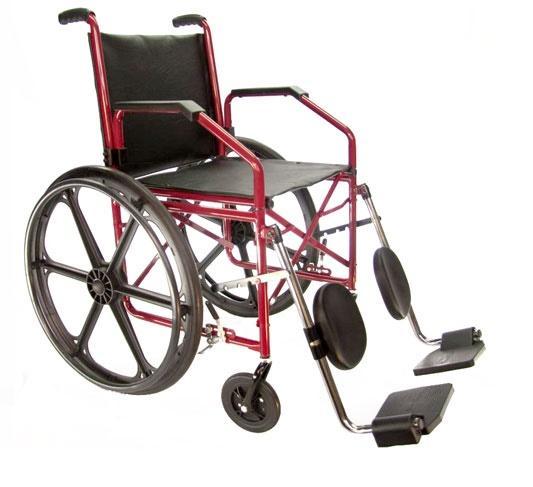 Cadeira de Rodas 1012 com elevação das pernas Jaguaribe